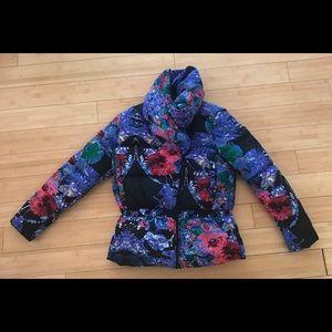 Desigual bright ski coat size 38